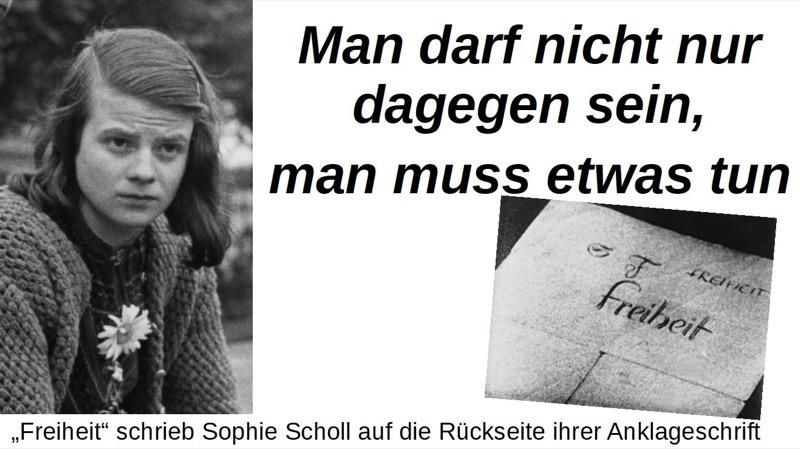 Sophie Scholl Letzte Worte